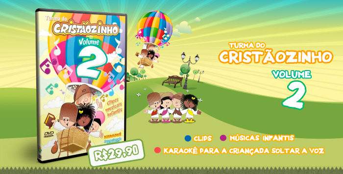 DVD Turma do Cristaozinho volume 2
